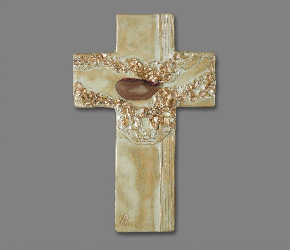 Atelier Hlavina: Cross with agate - Ivett Axamitová