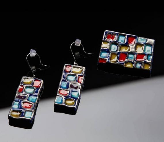 Atelier Hlavina: Colorful squares, Set - Čisáriková Táňa