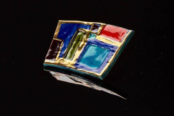 Atelier Hlavina: Colourful Broch - Čisáriková Táňa