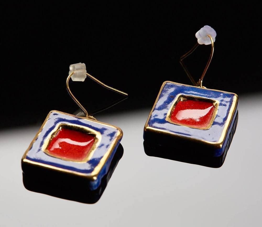 Atelier Hlavina: Dark blue - red, Set - Čisáriková Táňa