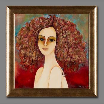 Atelier Hlavina: Girl with peacocks - Milena Ďuricová