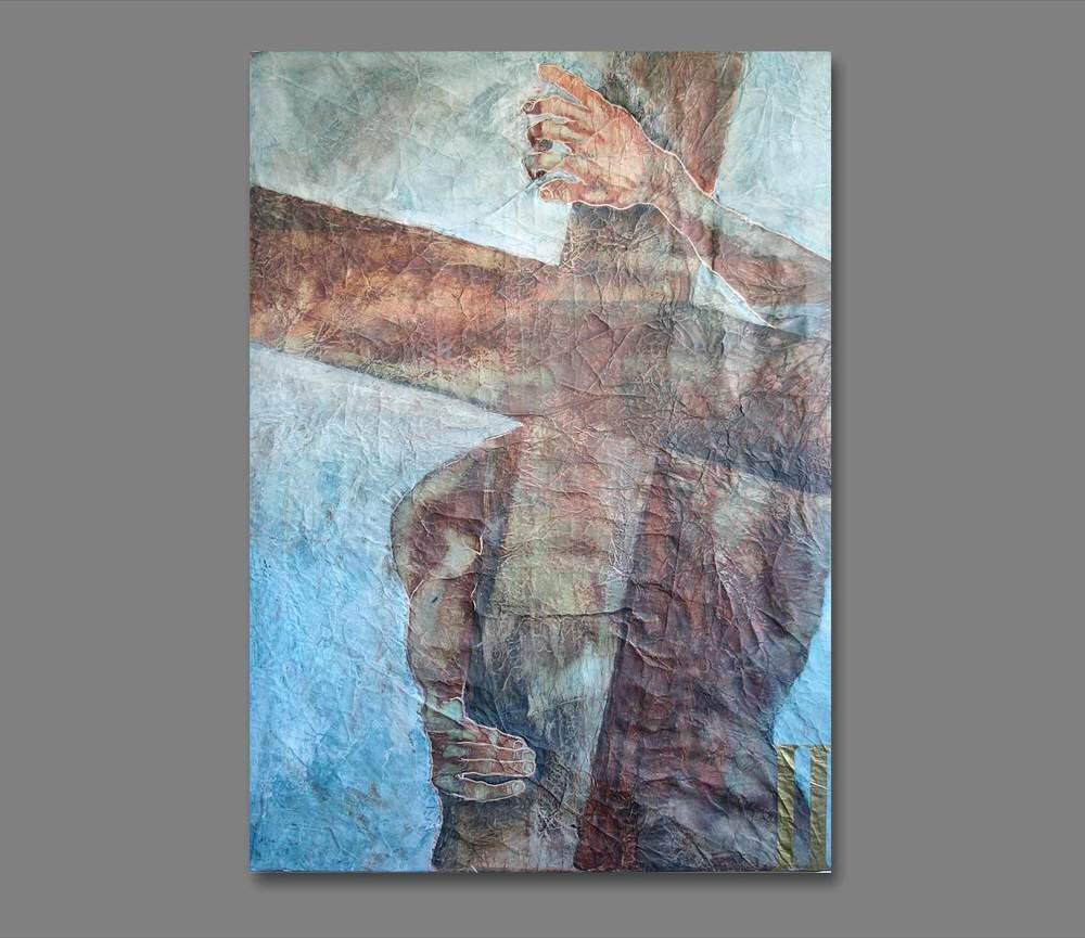 Atelier Hlavina: Jesus takes the cross on his shoulders - František Chudoba