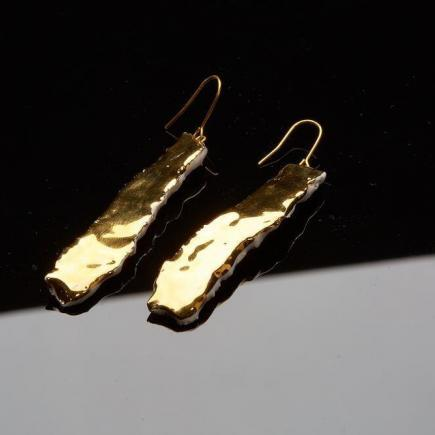 Atelier Hlavina: Liquid gold, Earrings - Čisáriková Táňa