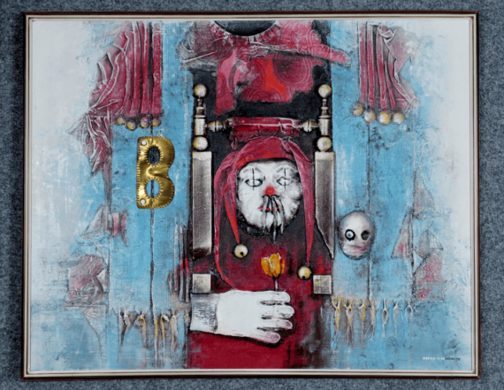 Atelier Hlavina: Clown pulling a Queen to E77 - Hieroným Balko