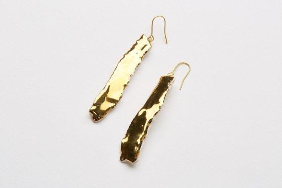 Atelier Hlavina: Liquid gold, Earrings - Čisáriková Táňa