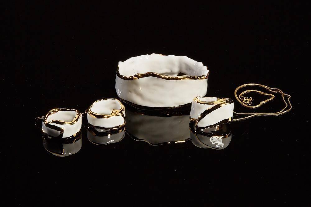 Atelier Hlavina: White gold set - Čisáriková Táňa