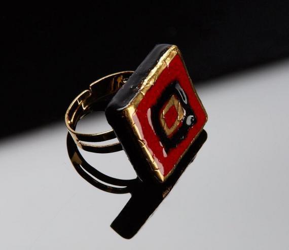 Atelier Hlavina: Sada čierno-zlaté štvorce - Čisáriková Táňa