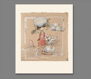 Atelier Hlavina: Girl, dog and their melons  – Naglik Hana