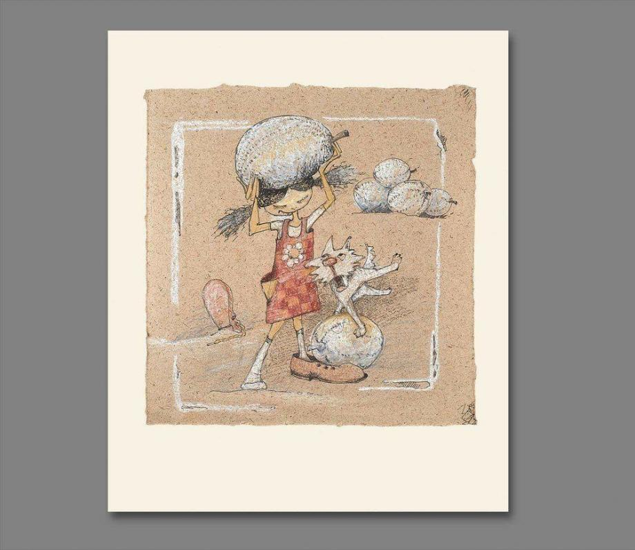 Atelier Hlavina: Girl, dog and their melons  - Naglik Hana