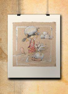 Atelier Hlavina: Girl, dog and their melons  – Naglik Hana – interier