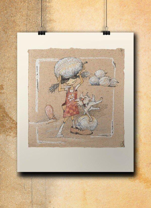 Atelier Hlavina: Girl, dog and their melons  - Naglik Hana - interier