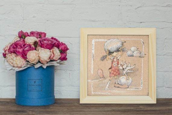 Atelier Hlavina: Girl, dog and their melons (original)  - Naglik Hana - interier