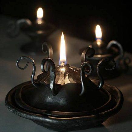 Atelier Hlavina: Kovaný olejový svietnik 04 - Miloš Gnida