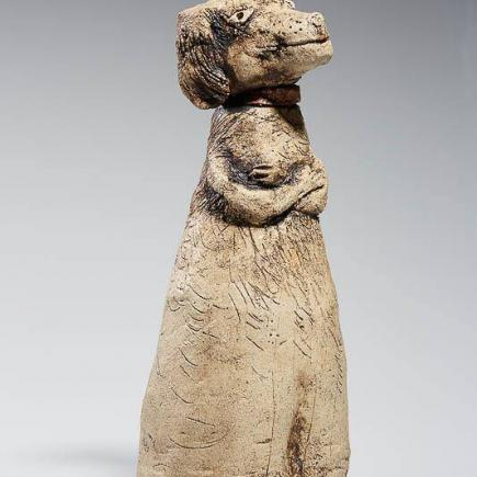 Atelier Hlavina: Dog with a pink collar - Horváthová Mária
