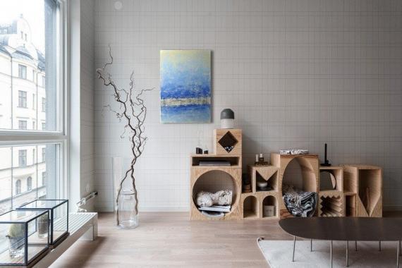 Atelier Hlavina: Pruh v modré - Svoboda Jan - interier