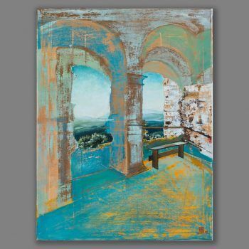 Atelier Hlavina: Pohľad z Uhrovského hradu II - Daniel Kišac