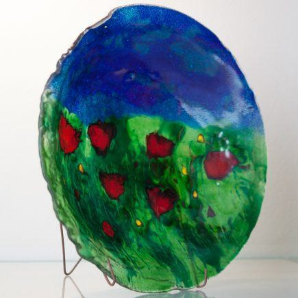 Atelier Hlavina: Darina Szöllösiová - Poppies – glass bowl