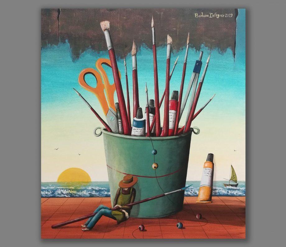 Atelier Hlavina: Painter's siesta - Barbara Issa Wagner